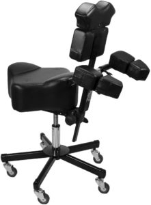 InkBed Patented Adjustable Ergonomic Chair Stool Chest Back Rest Support Tattoo Studio Equipment