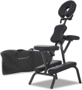Portable Massage Chairs Tattoo Chair Therapy Chair 4 Inches Thickness Sponge Height Adjustable Folding Massage Chair